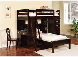 Coaster Furniture 460123 - Workstation Bunk Bed (Cappuccino)