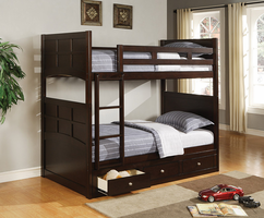 Coaster Furniture 460136 - Jasper Twin/Twin Bunk Bed (Cappuccino)