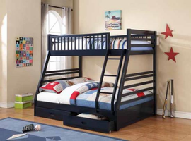Coaster Furniture - 460181 - TWIN/FULL BUNK BED (NAVY BLUE)
