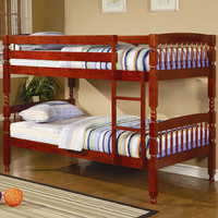 Coaster Furniture 460221 - Twin/Twin Bunk Bed (Cherry)