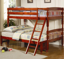 Coaster Furniture 460222 - Twin/Full Bunk Bed (Warm Cherry)