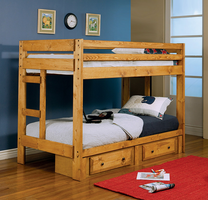Coaster Furniture 460243 - Twin/Twin Bunk Bed (Amber Wash)