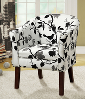 Coaster Furniture 460406 - Accent Chair (Black/White Bird Pattern)