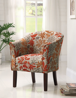 Coaster Furniture 460407 - Accent Chair (Autumn Leaves Pattern)