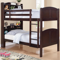 Coaster Furniture 460442 - Parker Bookcase Bunk Bed (Cappuccino)