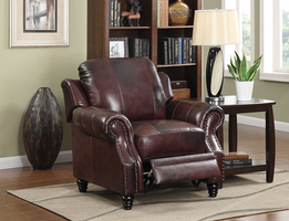 Coaster Furniture 500663 - Princeton Push-Back Recliner (Burgundy)