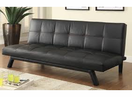 Coaster Furniture - 500765 - SOFA BED (BLACK W/ RED STITCHING)