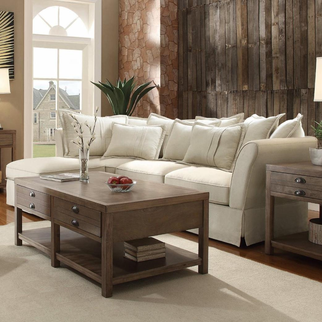 Merveilleux Furniture 500910 Karlee Sectional Oatmeal