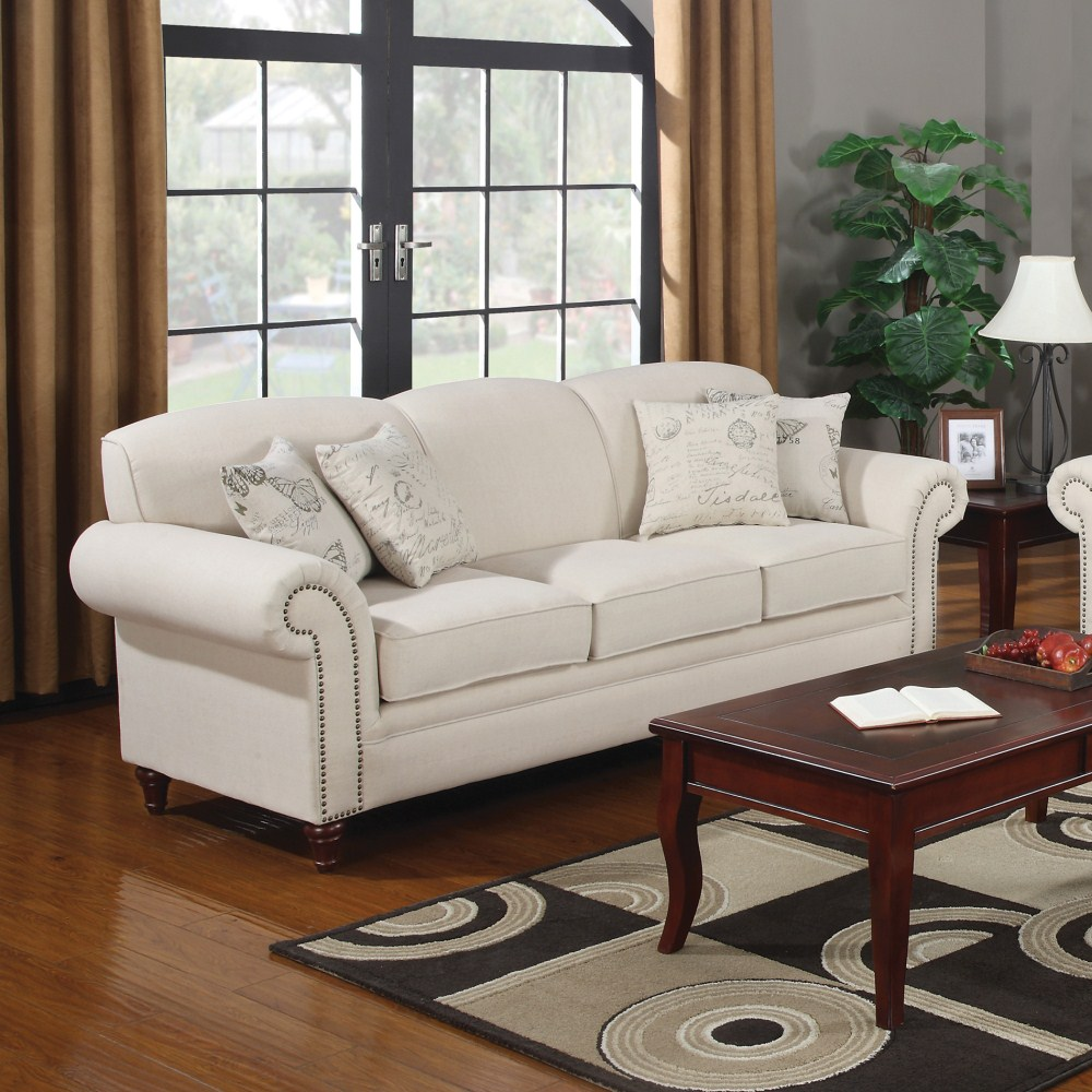 Coaster furniture 502511 norah sofa oatmeal for Zfurniture alexandria