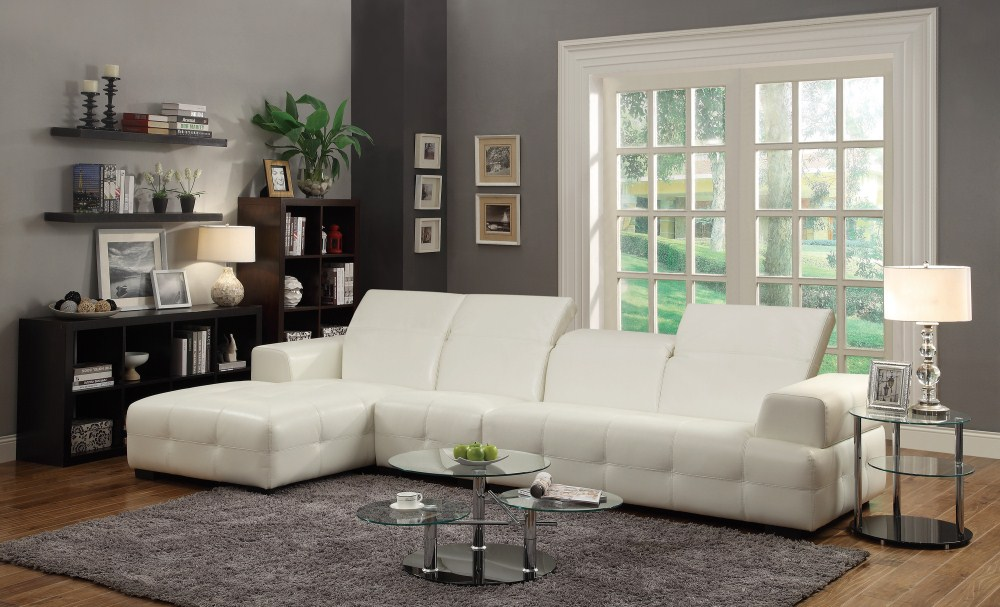 Stupendous Coaster Furniture 503617 Sectional White Creativecarmelina Interior Chair Design Creativecarmelinacom