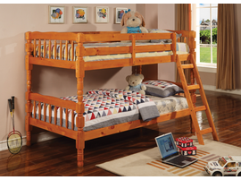 Coaster Furniture 5040 - Twin/Twin Bunk Bed (Medium Pine)