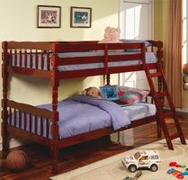 Coaster Furniture 5040CH - Twin/Twin Bunk Bed (Rich Cherry)