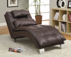 Coaster Furniture - 550076 - CHAISE (BROWN)