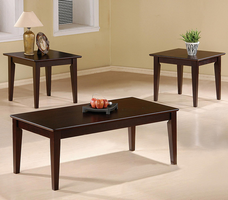 Coaster Furniture 5880 - 3pc Occasional Set (Cappuccino)