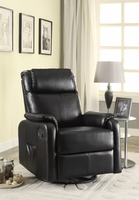 Coaster Furniture - 600041 - SWIVEL GLIDER RECLINER (BLACK)