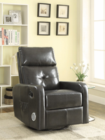 Coaster Furniture - 600046 - SWIVEL GLIDER RECLINER (GREY)