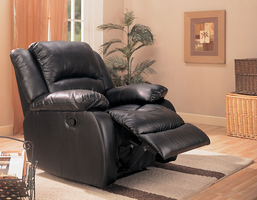 Coaster Furniture 600248 - Glider Recliner (Black)