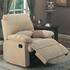 Coaster Furniture 600264 - Recliner (Light Brown)