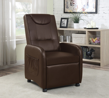 Coaster Furniture - 600388 - PUSH BACK CHAIR (BROWN)