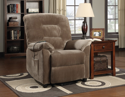 Coaster Furniture 601025 - Power Lift Recliner (Brown Sugar)