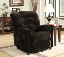 Coaster Furniture 601026 - Power Lift Recliner (Chocolate)