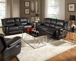 Coaster Furniture 601063 - Lee Glider Recliner (Black)