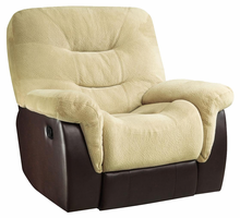 Coaster Furniture 601073 - Elaina Glider Recliner (Cream/Brown)