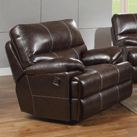 Coaster Furniture 601273 - Kevin Glider Recliner (Burgundy)