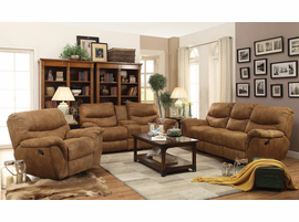 Coaster Furniture - 601763 - GLIDER RECLINER (LIGHT BROWN)