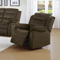 Coaster Furniture - 601883 - GLIDER RECLINER (TWO TONE CHOCOLATE)