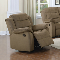 Coaster Furniture - 601886 - GLIDER RECLINER (TWO TONE TAN)