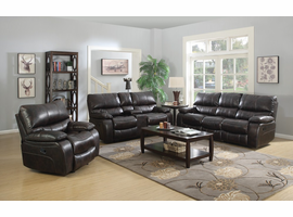 Coaster Furniture - 601933 - GLIDER RECLINER (TWO TONE DARK BROWN)