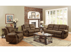 Coaster Furniture - 650153 - ROCKER RECLINER w/ SWIVEL (BROWN)