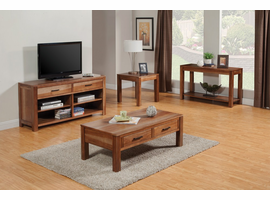 Coaster Furniture - 700074 - TV CONSOLE (NATURAL BROWN)