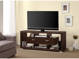Coaster Furniture - 700112 - TV CONSOLE (CAPPUCCINO)
