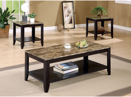 Coaster Furniture 700155 - 3pc Occasional Set (Marble Like)