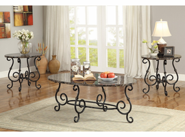 Coaster Furniture - 700187 - 3PC OCCASIONAL SET (BLACK)