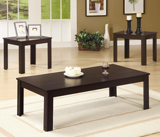 Coaster Furniture 700215 - 3pc Occasional Set (Dark Walnut)