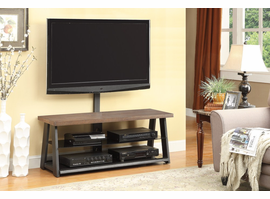 Coaster Furniture - 700217 - TV CONSOLE (BROWN/BLACK PEWTER)