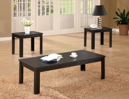 Coaster Furniture 700225 - 3pc Occasional Set (Black)