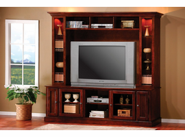 Coaster Furniture 700231 - TV Console (Merlot Oak)