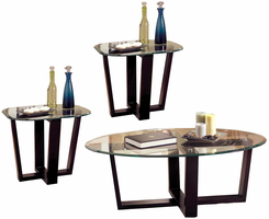 Coaster Furniture 700275 - 3pc Occasional Set (Black)