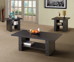 Coaster Furniture 700345 - 3pc Occasional Set (Rich Black)