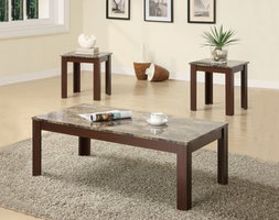Coaster Furniture 700395 - 3pc Occasional Set (Brown)
