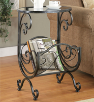 Coaster Furniture 700401 - Magazine Table (Gunmetal)