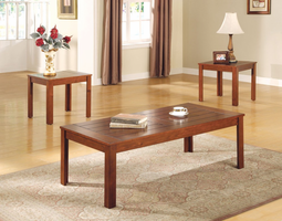 Coaster Furniture 700570 - 3pc Occasional Set (Planked)