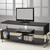 Coaster Furniture 700652 - TV Console (Black/Chrome)