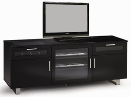 Coaster Furniture 700672 - Connect It TV Console (Glossy Black) Free Delivery