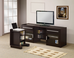 Coaster Furniture 700674 - Connect It TV Console (Cappuccino)