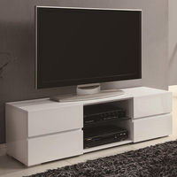 Coaster Furniture 700825 - TV Console (High Gloss White)